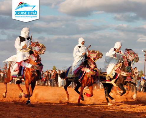 festivals-in-libya-Ghadames-tuareg- horse-riding