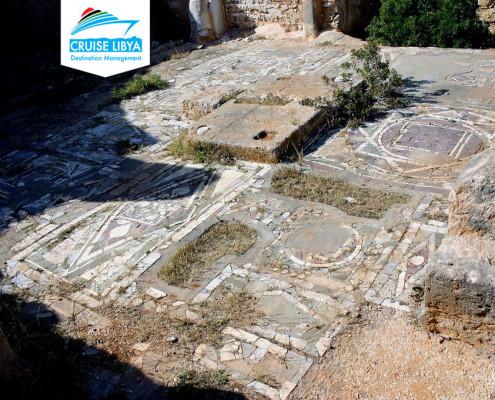 Cyrene-st-Andrew-byzantine-basilic-mosaic