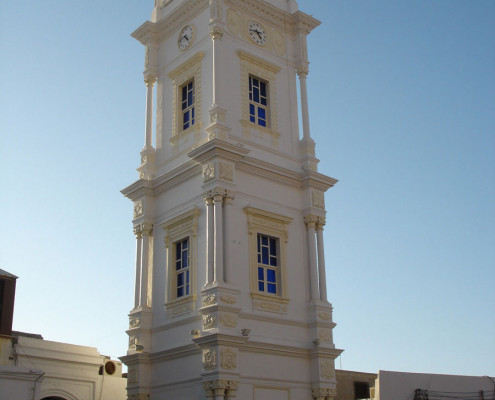 Ottman-clock- tower-Tripoli-old city-libya