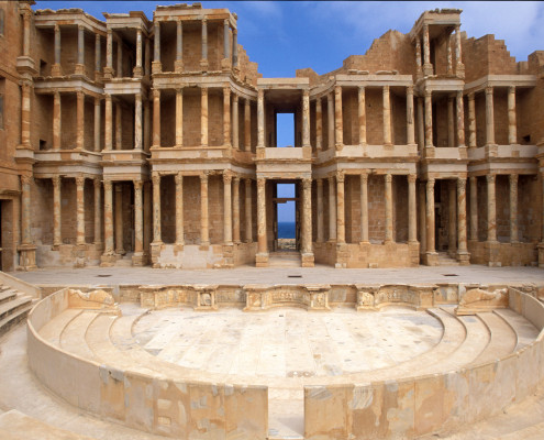 Sights - Libya - Sabratha - theatre - 01